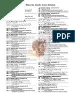 2012 Theocratic Ministry School Schedule
