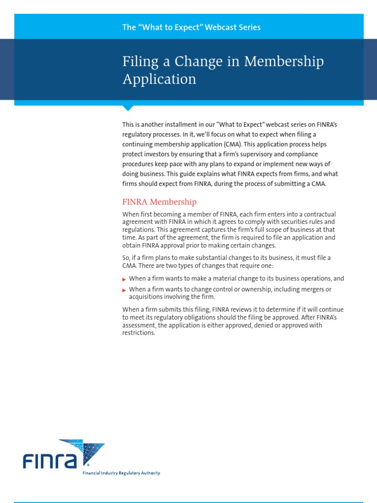 Finra Cma Guidelines Financial Industry Regulatory Authority