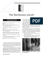 Pool Disinfectants and pH