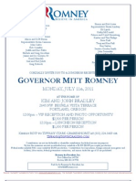 Luncheon Reception for Romney for President