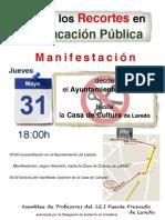 Contra Recortes - Cartel -31-Laredo