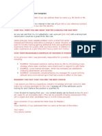 Unemployed Cover Letter Template