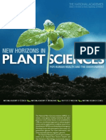 New Horizons in Plant Sciences for Human Health and the Environment