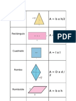 área figuras geométricas.