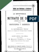 La importancia del nitrato de sosa (salitre de Chile) en la horticultura y jardinería. (1897)