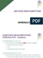 Substante medicamentoase adrenolitice