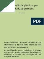 identificação de plásticos