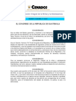 LEY DE PROTECCIÓN INTEGRAL DE LA NIÑEZ Y LA ADOLESCENCIA  27-2003