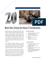 Bab 20 Mesin Kalor Entropi Dan Hukum 2 Termodinamika