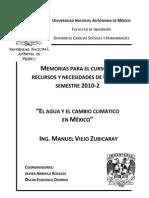 RyNM El Agua en México y el Cambio Climático