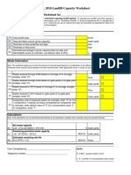 Annual Report Landfill Capacity Worksheets