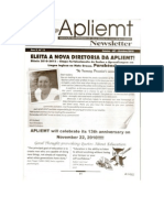 Apliemt Newsletter, ano x, n. 15,Cuiabá, outubro 2010