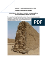 Detalles de construcciòn con adobe