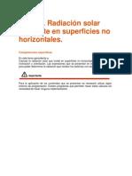 Radiacion Solar Indicente en Superficies Horizon Tales