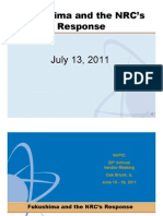 ML111940514 - Fukushima and the NRC'sResponseJuly July 13, 2011 13, 2011