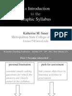 Sauer 2011 ETC Graphic Syllabus