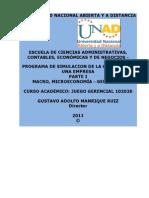 102026 Act. 3 Trabajo Colaborativo No. 1 1er Aporte JUEGO JERENCIAL