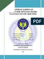 Laporan6_E1_Sidik Nurcahyo_Inter VLAN Routing & Routing Static Pada Paket Tracert 5.3