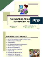 ABNT - Considerações Gerais