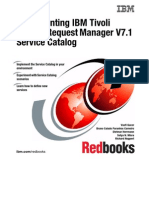 Implementing IBM Tivoli Service Request Manager V7.1 Service Catalog Sg247613