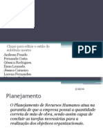 PLANEJAMENTO DE
