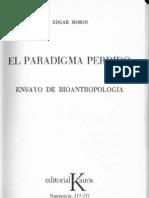 Morin El Paradigma Perdido 1a Parte
