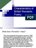 Characteristics of British Romantic Poetry Rev