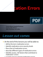 Medication Errors 2011