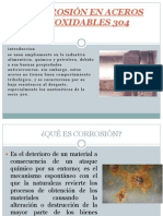 CORROSIÓN EN ACEROS INOXIDABLES 304 primera parte