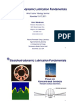 Elastohydrodynamic Lubrication Fundamentals