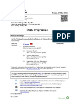 Bonn Climate Change Talks – Daily Schedule – May 26th, 2012