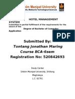 Hotel Manage Hard Copy