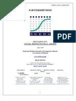 SMEDA Partnership Deed