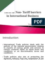 Tariff Non-tariff Tittu
