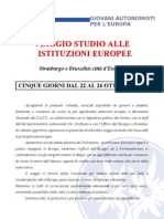 Viaggio studio istituzioni europee ottobre 2012