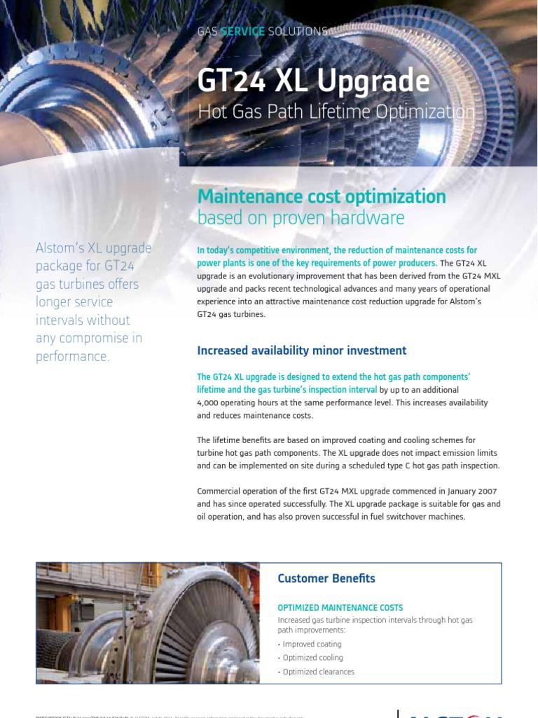gt24-xl-gas-turbine-upgrade pdf | Gas Turbine | Gases