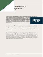 El cooperativismo vasco y las políticas públicas (Es)/ The Basque cooperativism and the public policies (Spanish)/ Euskal kooperatibismoa eta politika publikoak (Es)