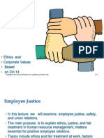 Ethics,justice, and fair treatment in HR managment