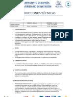 Instrucciones Técnicas CEU Natación