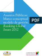 Informe Asuntos Publicos - Marco conceptual y modelo de gestión. Ranking Global Issues 2012