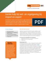 Whitepaper Wet en Regelgeving Bij Import en Export