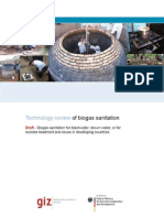 Technology Review of Biogas Sanitation