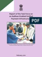 Report Task Force Aadhaar Payment Infra