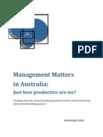 Management Matters in Australia Report