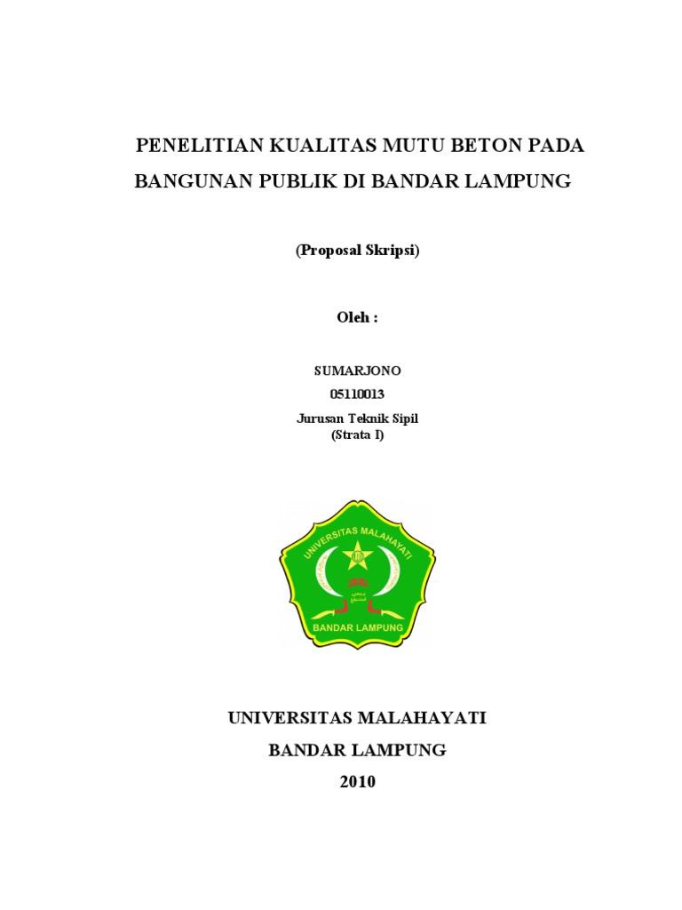Contoh Proposal Tugas Akhir Teknik Sipil Berbagi Contoh Proposal
