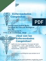 Presentación Patología, Enfermedades Congénitas