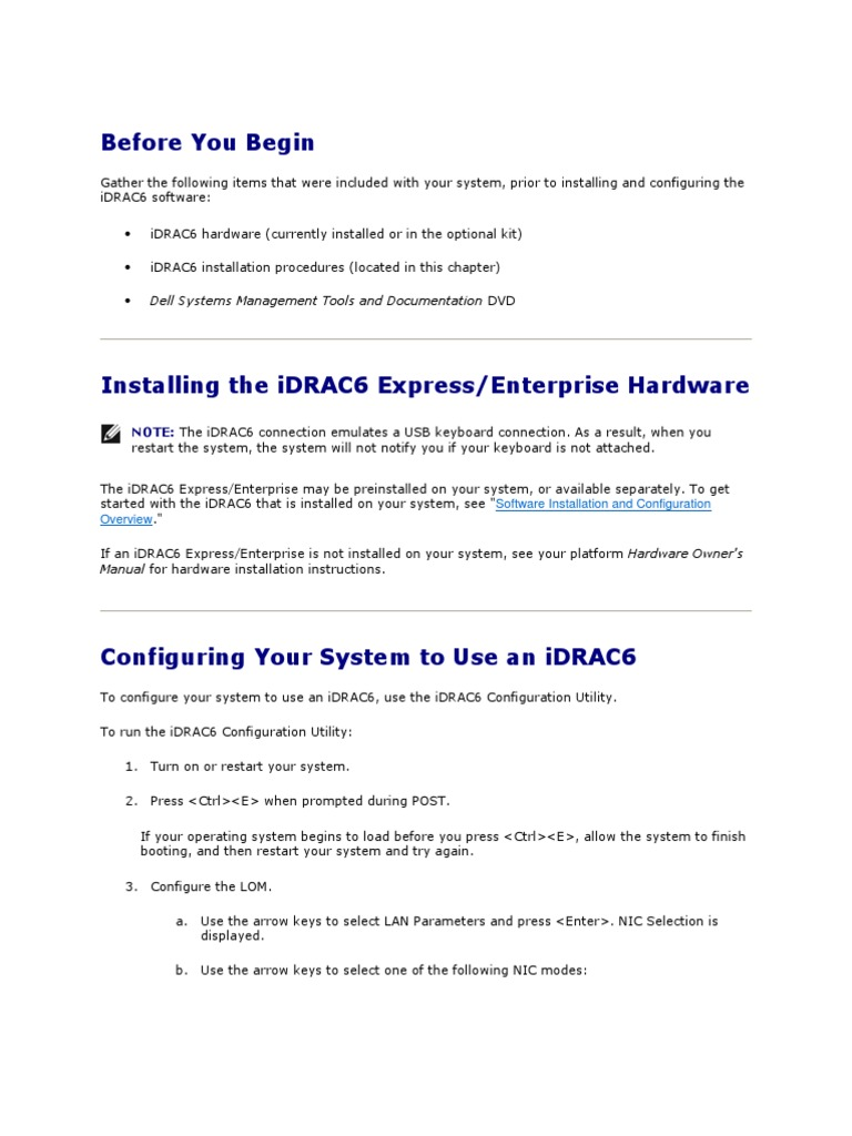 IDRAC6 Material | Network Interface Controller | World Wide Web