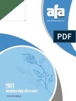 Arab Fert Association Directory_2011