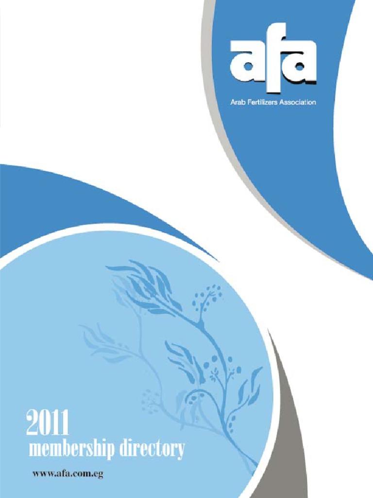 Arab Fert Association Directory_2011   Fertilizer   Urea