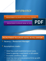 Recruitment Strategy For 5 star hotel and bank